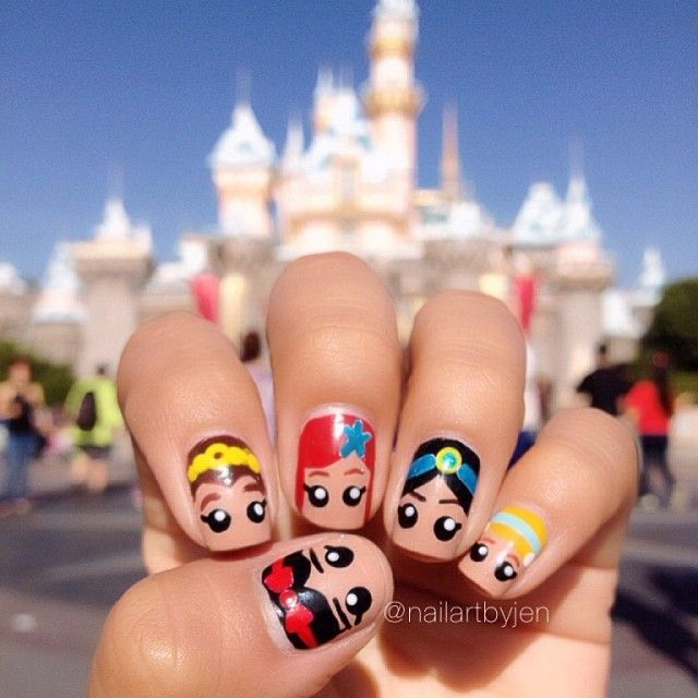Disney Nail Art: Disney Princess Nails
