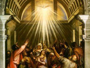 Discesa dello spirito santo Tiziano Santa Maria della Salute