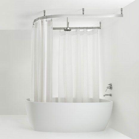 Bath Shower Curtain Track Bathroom Pinterest