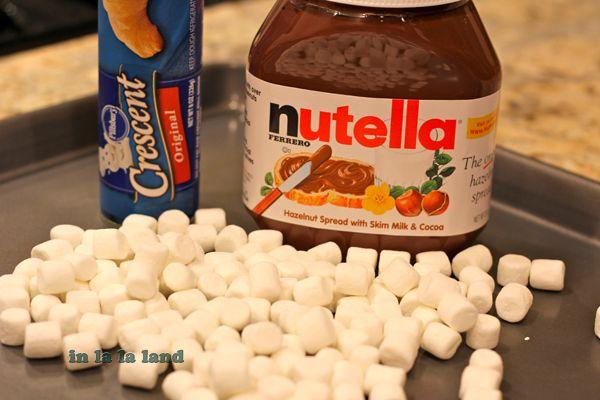 Nutella Pocket Dessert | FOOOOOOD | Pinterest