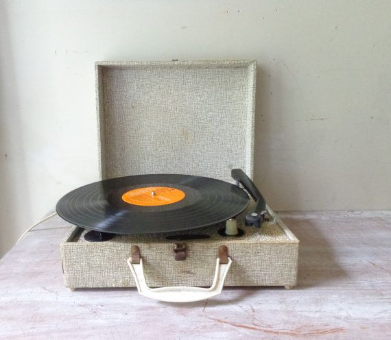 Sale Vintage Portable Record Player Kingsley