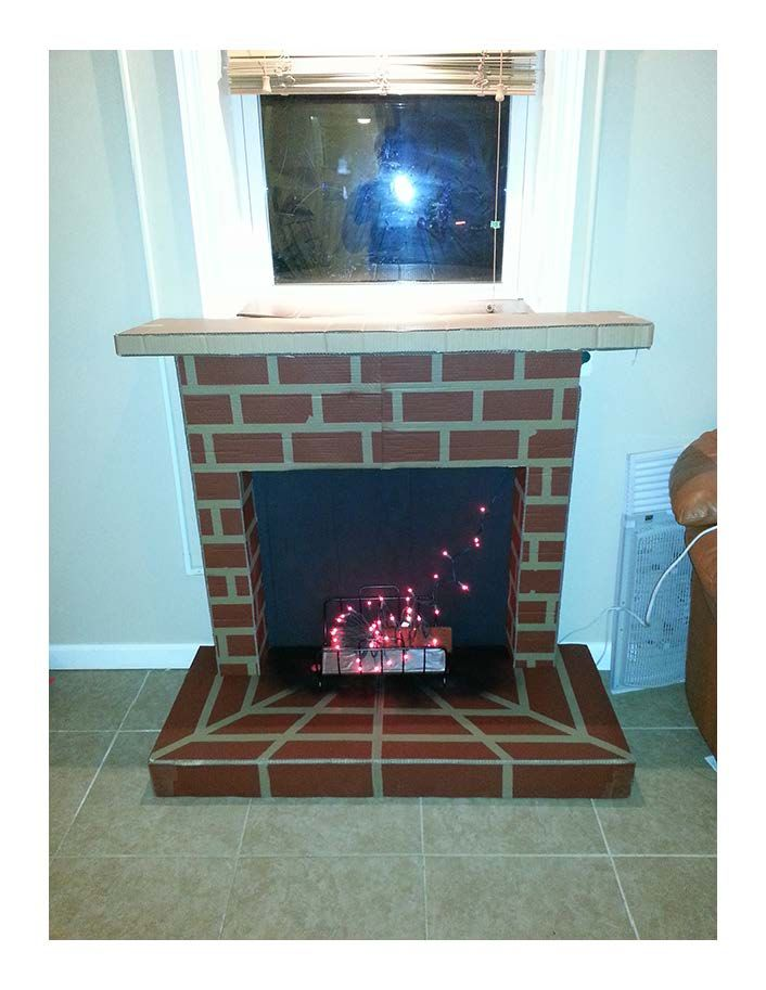 Fireplace Design diy cardboard fireplace : Cardboard Chimney Diy Car Pictures - Car Canyon