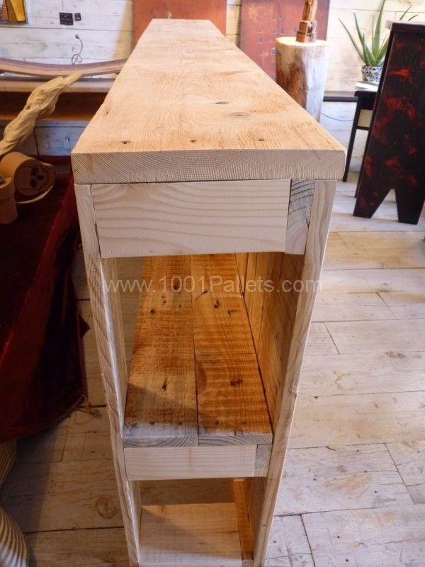 T te de lit en bois de palette pallet wood headboard - Tete de lit palette de bois ...