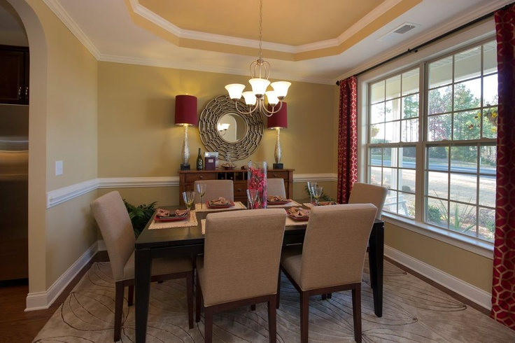 Gorgeous dining room with tray ceiling for the home for Gorgeous dining rooms