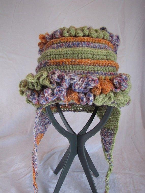 Crocheting Crazy : crochet crazy frill earflap hat, teen, adult, freeform crochet, photo ...