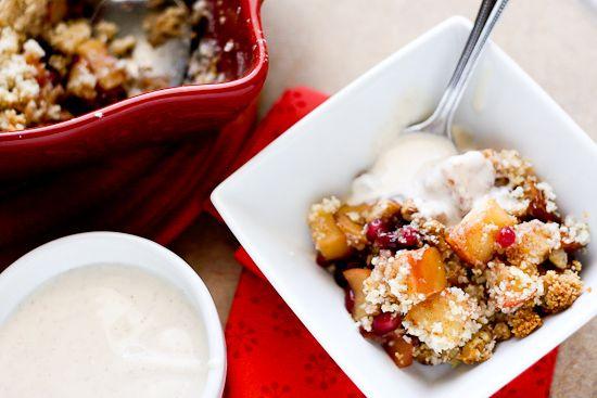 Apple-Pomegranate Breakfast Crisp (Grain and Gluten-Free!) -- www ...