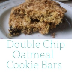 Double Chip Oatmeal Cookie Bars | Yummies | Pinterest