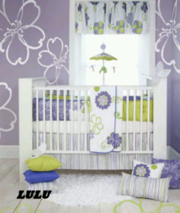 Purple And Lime Green Baby Girl Room For My Baby Or The Next Pi
