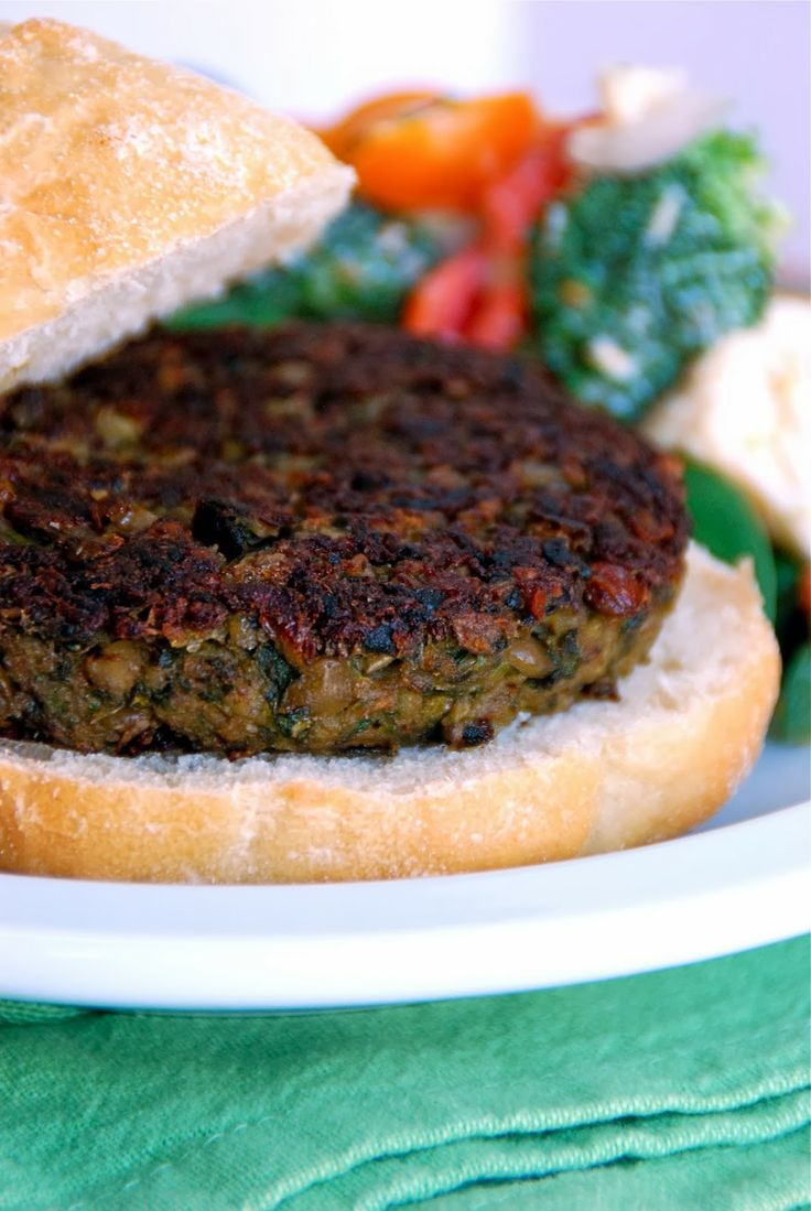 New to the Table: Lentil-Walnut Burgers | Food | Pinterest