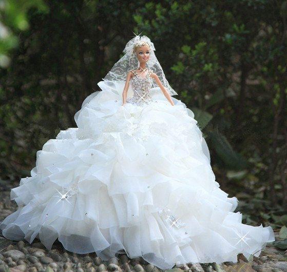 barbie doll clothes dress evening dress wedding dress bride wedding a