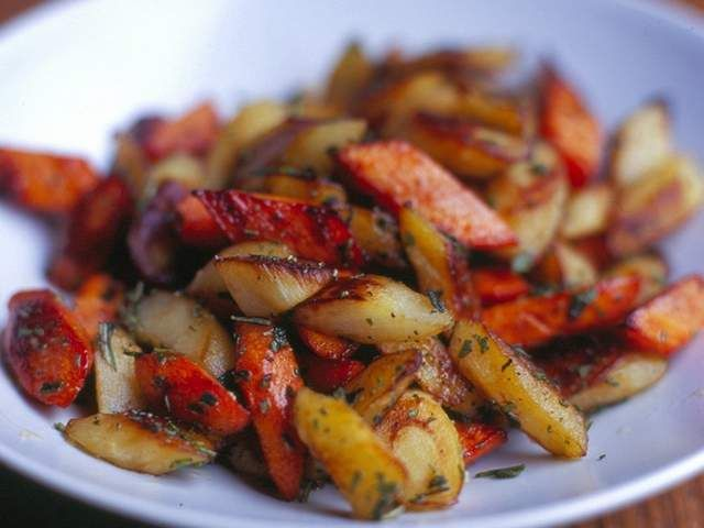 Recipe: Roasted Carrots and Parsnips with herbs