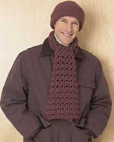 Knitting Pattern For Mens Scarf And Hat : Pin by Patricia Gardner on Knitting Pinterest
