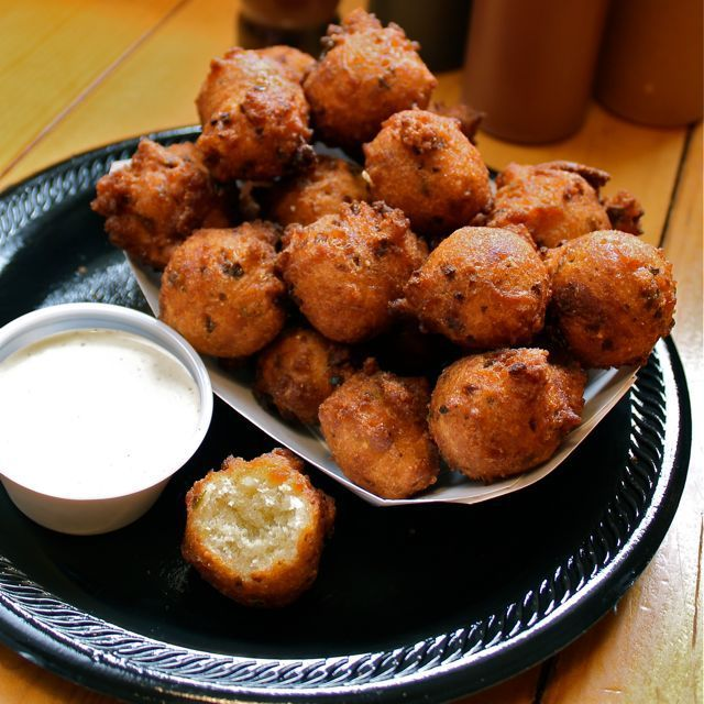 Jalapeno Hushpuppies and Red Slaw - Irene Easter Food Photo