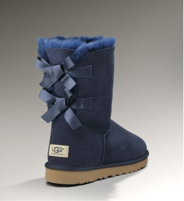 blue uggs with bows