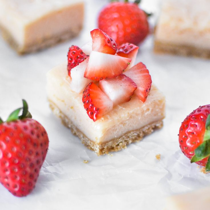 Strawberry and Lime Cheesecake Bars | Recipe