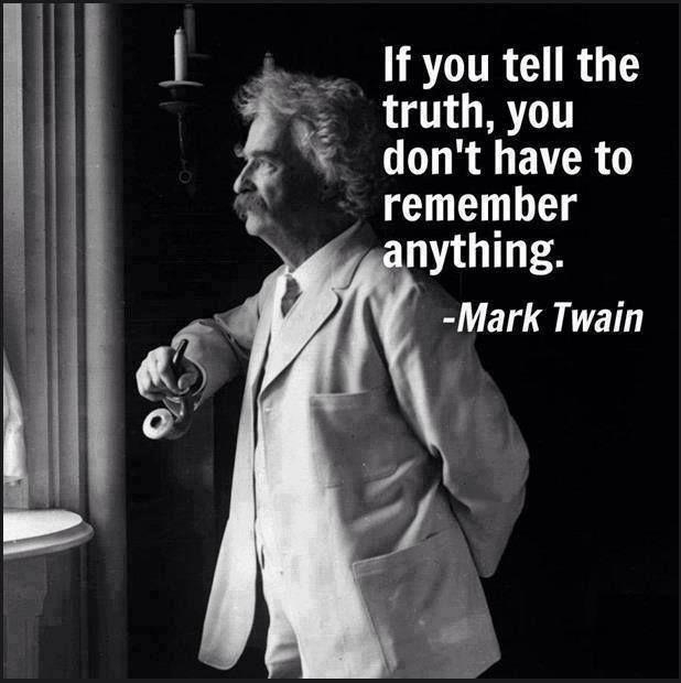 If You Always Tell the Truth Mark Twain