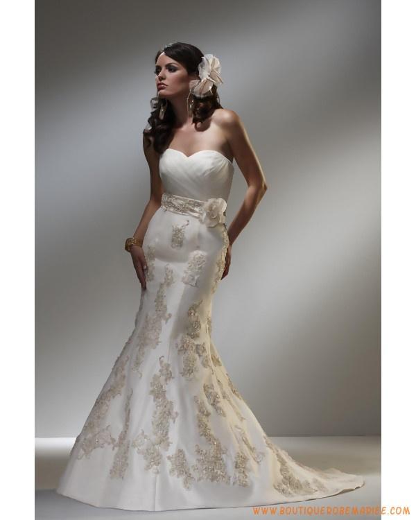Robe de mariée sirène à bustier broderie  Robe de mariée ...
