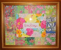 DIY Lilly Pulitzer print frame
