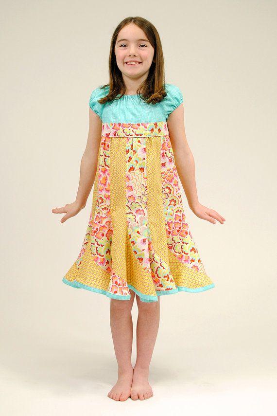 Girl S Dress Twirly Dress Peasant Dress Children
