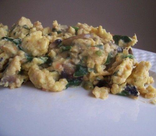 Southwestern Egg Scramble (Sliced Green onions, chopped mushrooms ...
