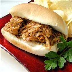 Zesty Slow Cooker Chicken Barbecue | Crockpot | Pinterest