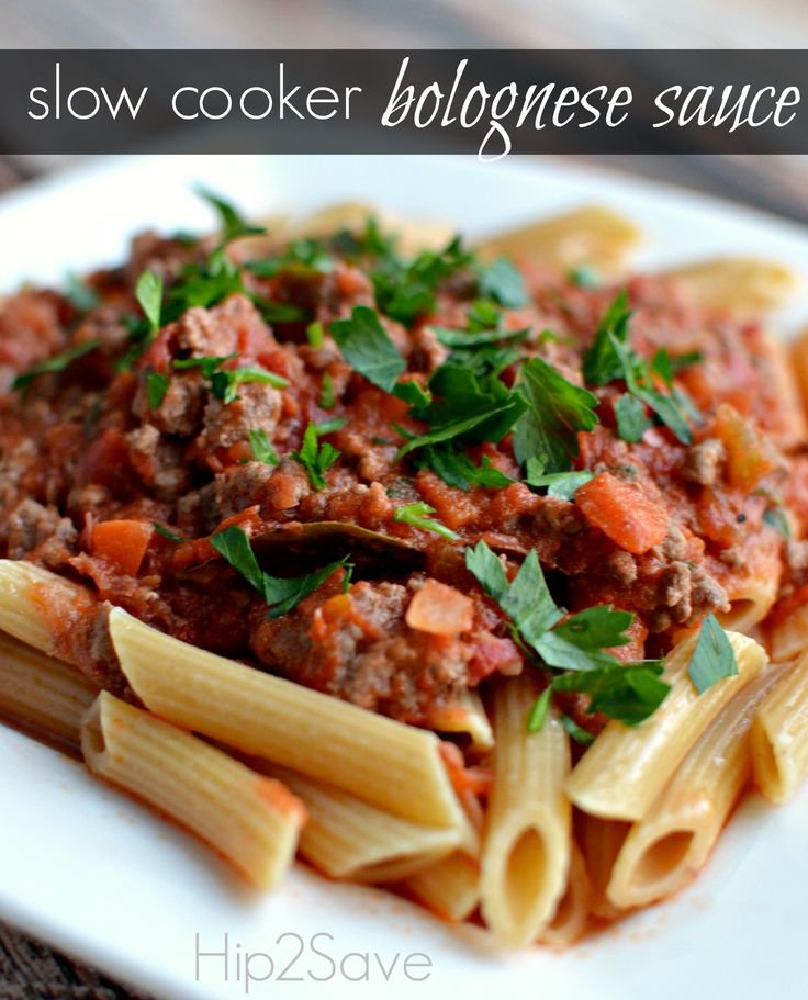 Slow Cooker Bolognese Sauce Recipe via Hip2Save: It's Not Your Grandma ...