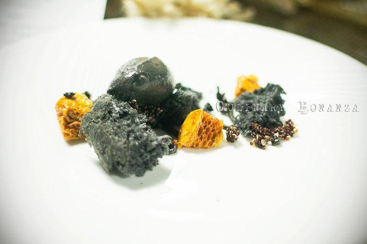 Depth quot  - charcoal brioche  squid ink ice cream  honeycomb  black rice    Charcoal Ice Cream