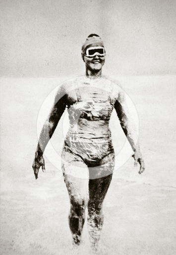 Gertrude Ederle Swimming The English Channel Pin by TaVona Bonetti ...