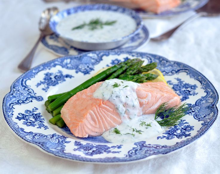 Poached Salmon with Creamy Dill Sauce - something to do with all the ...
