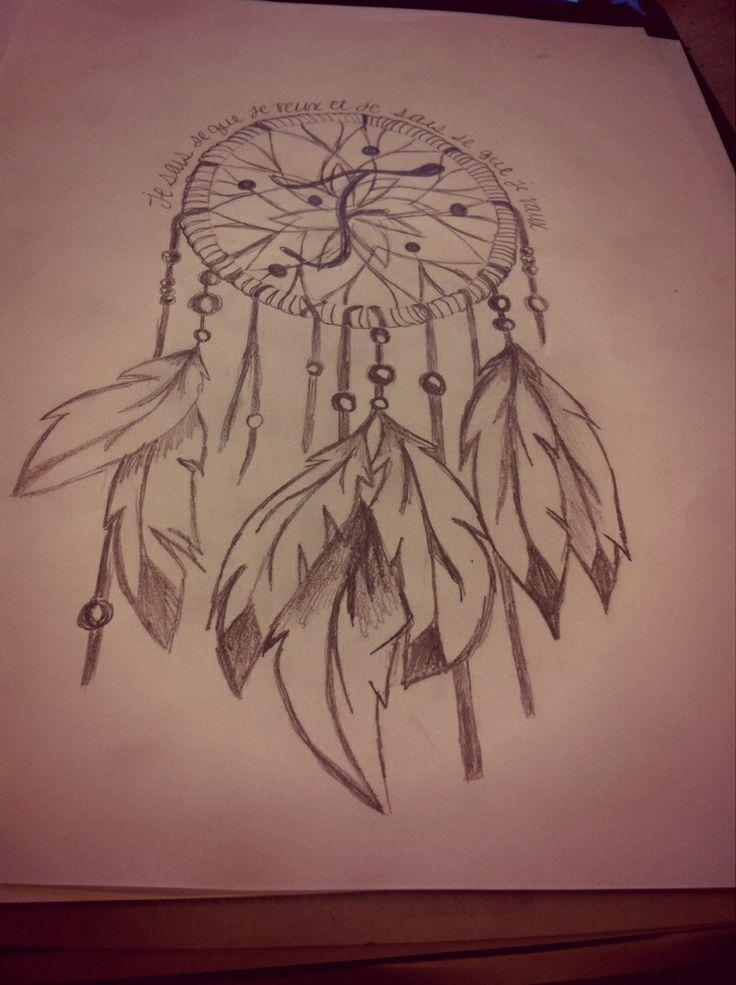 My dream catcher i draw it dream catchers tattoo for How to draw a dream catcher