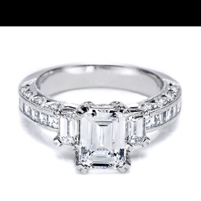 tacori emerald cut ring emerald cut