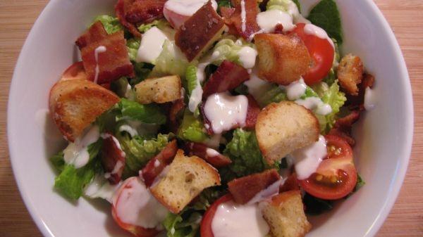 BLT Salad w/ buttermilk dressing | Lets Eat! | Pinterest