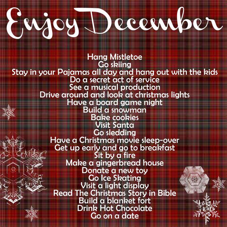great way to enjoy December!