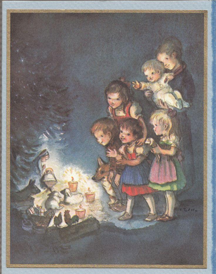 Tasha Tudor Vintage Christmas Card