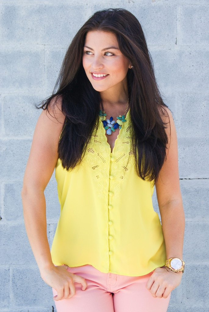 chartreuse top