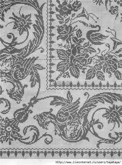 Фото схем филейного вязания 481
