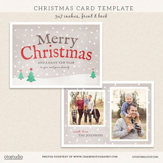 digital photoshop christmas card template for photographers psd flat