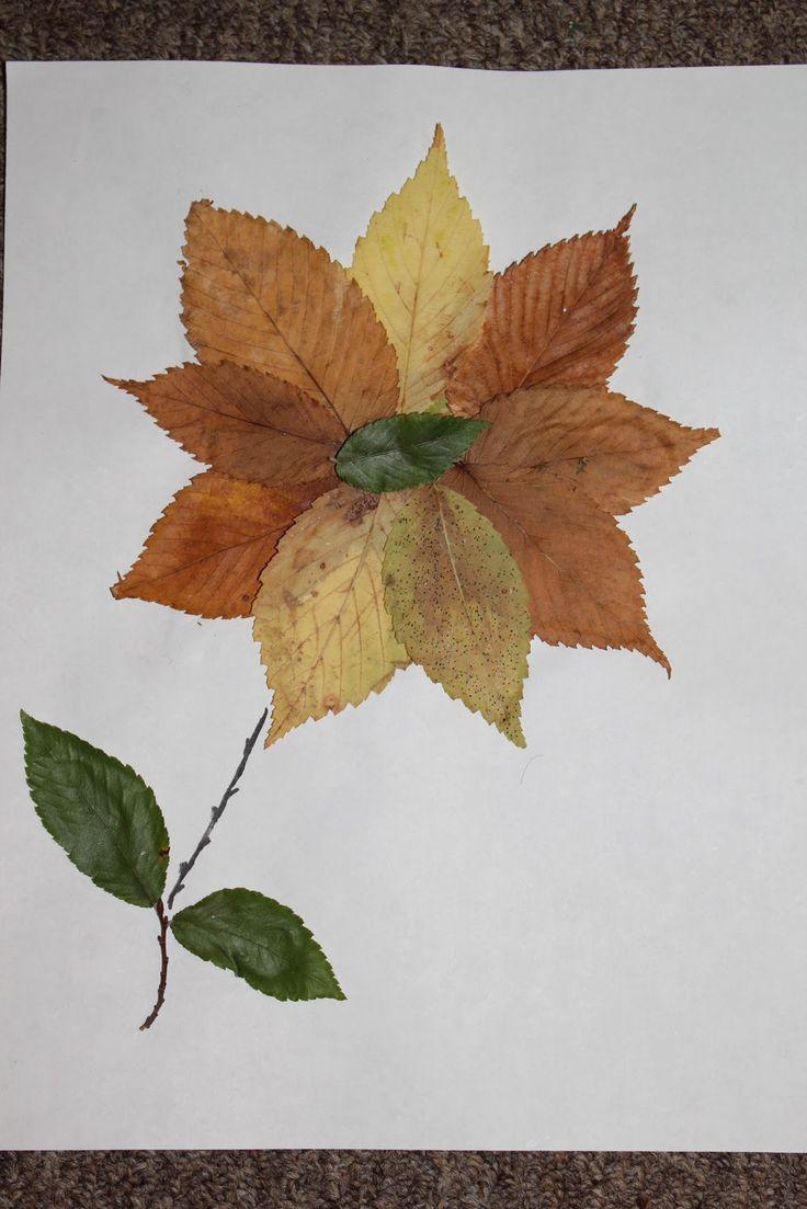 Поделки из осенних листьев на бумаге фото