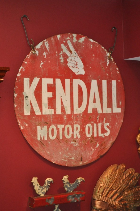 Vintage Kendall Motor Oils Sign Gas Oil Pinterest