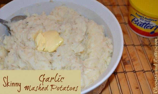 Skinny Garlic Mashed Potatoes {Simple ways to lighten the holidays!}