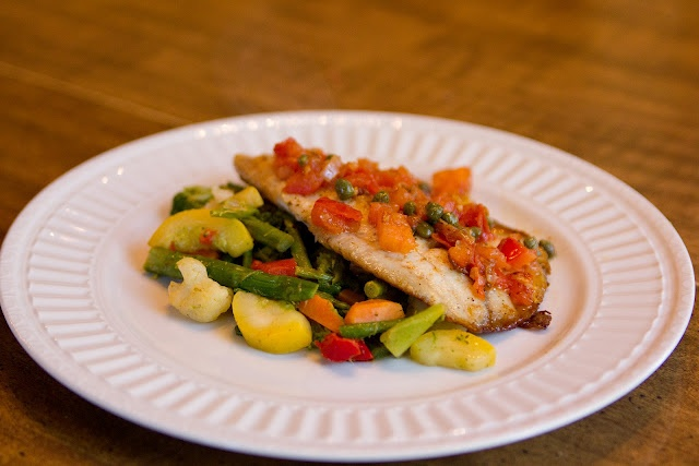 Tilapia fillets with tomato caper sauce | recipes | Pinterest