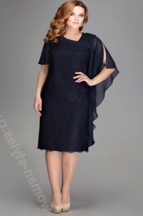 Фасоны платьев для полных женщин своими руками 85