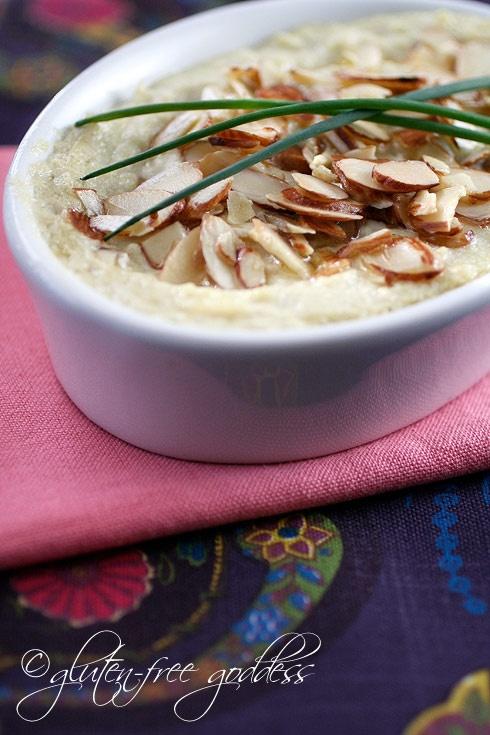Hot artichoke dip that is gluten-free and dairy-free vegan yum.