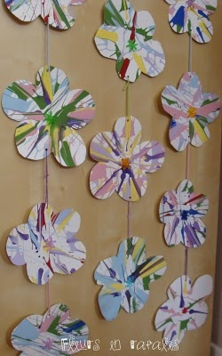 Guirlande de fleurs facile arts visuels en maternelle pinterest - Guirlandes de fleurs ...