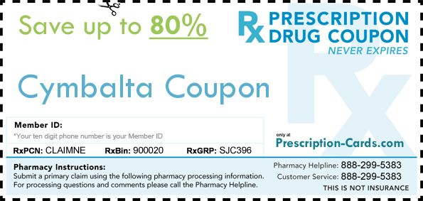Cymbalta coupons discounts