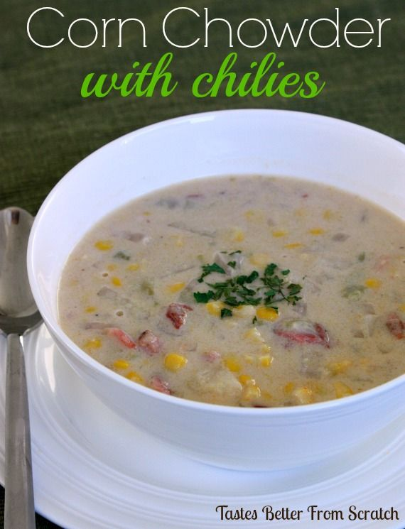 Corn Chowder with Chilies on MyRecipeMagic.com