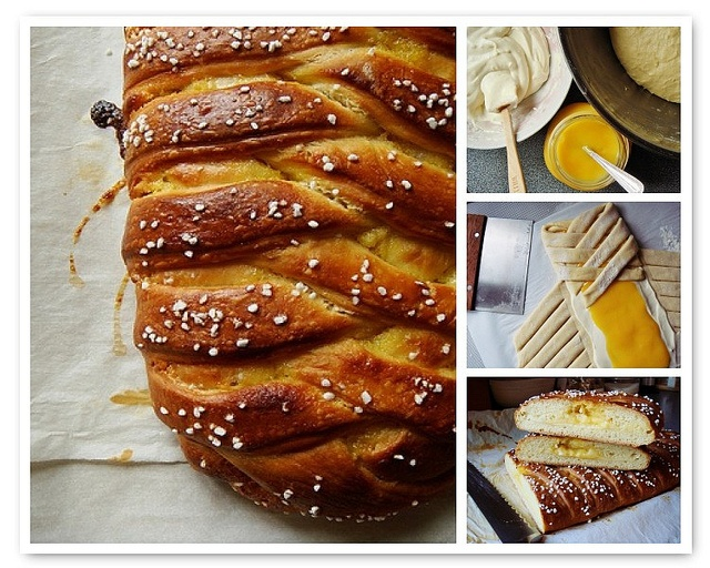 Braided Lemon Bread with cream cheese and homemade Meyer lemon curd at ...