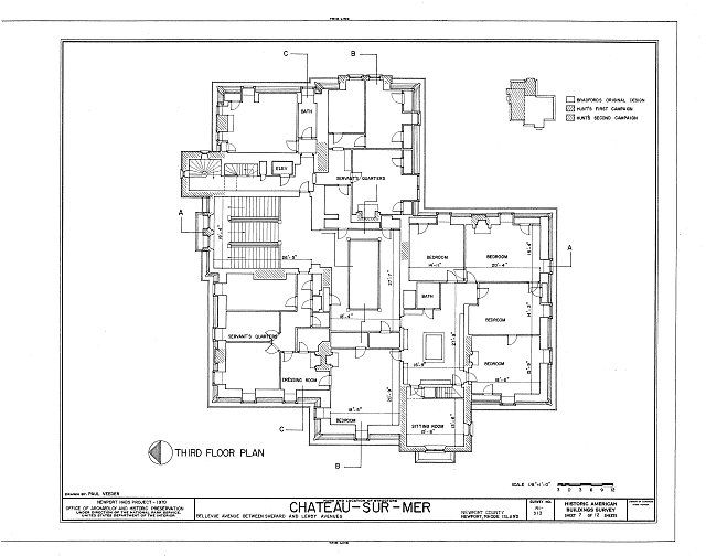 Chateau Sur Mer 3rd Floor Plan Architettvra Pinterest