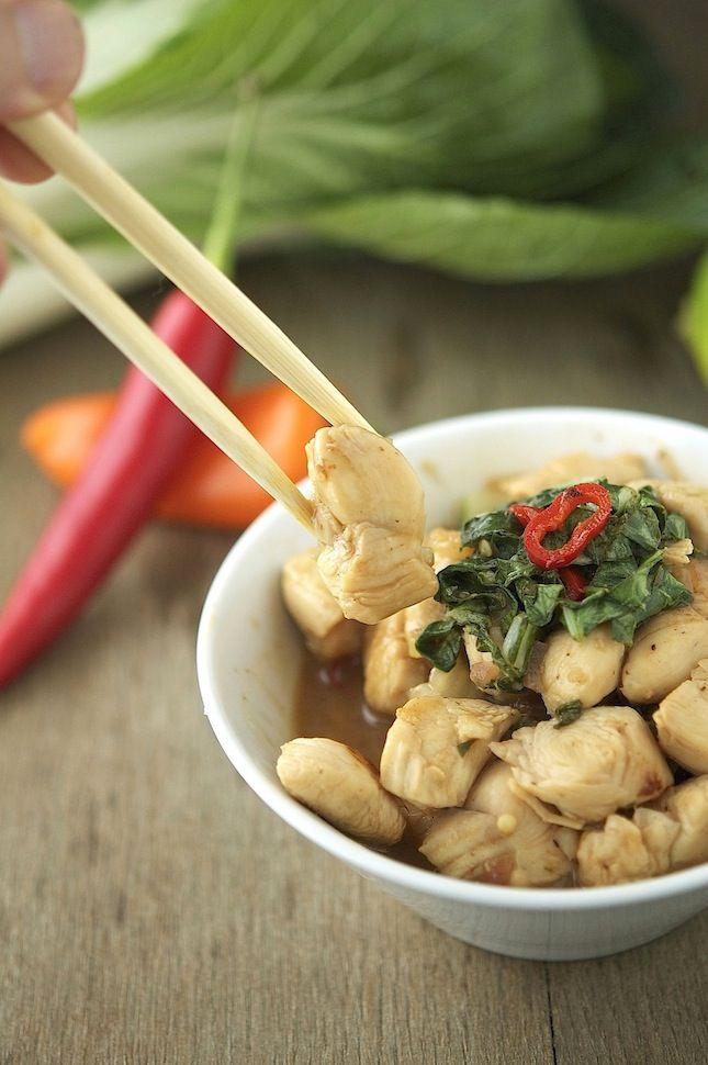 Chicken, Bok Choy and Basil Stir-Fry   Mmm recipes   Pinterest