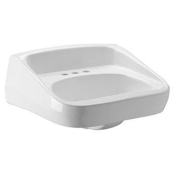 Zurn Wall Mounted Single Hole Bathroom Sink with Backsplash